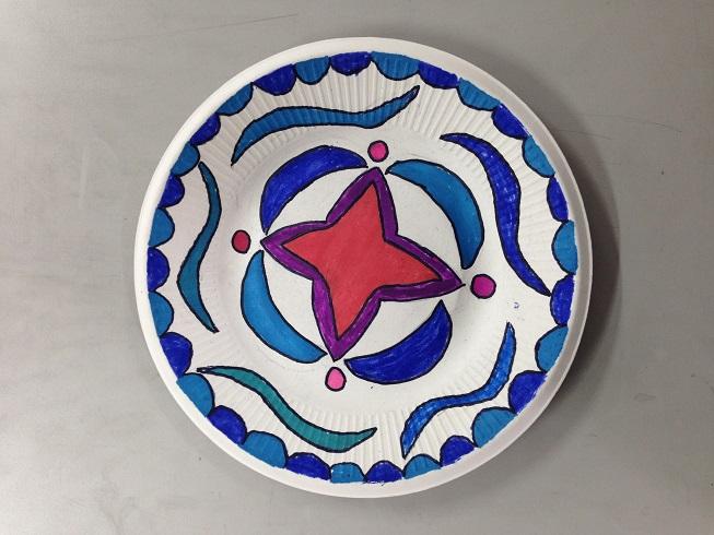 美术作品展示——盘子画