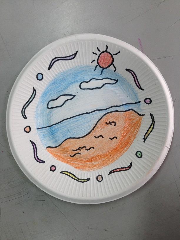 美术作品展示 盘子画